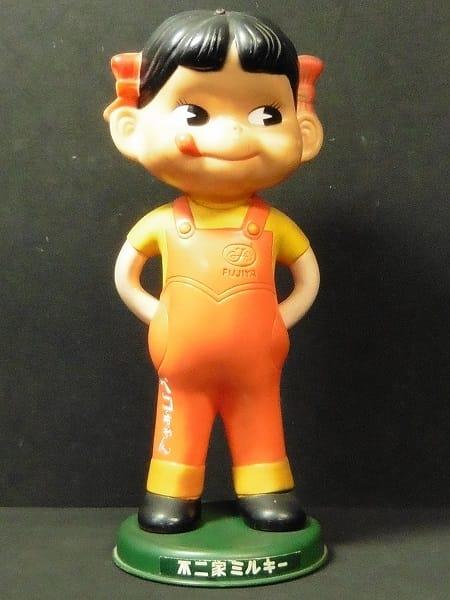 不二家 首ふり ペコちゃん 人形 / ミルキー 昭和レトロ