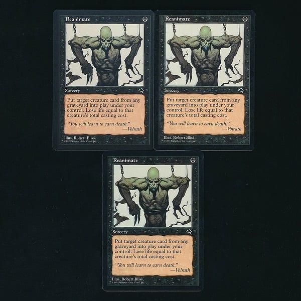 MTG 再活性 Reanimate 英語版 3枚 黒 レガシー TMP