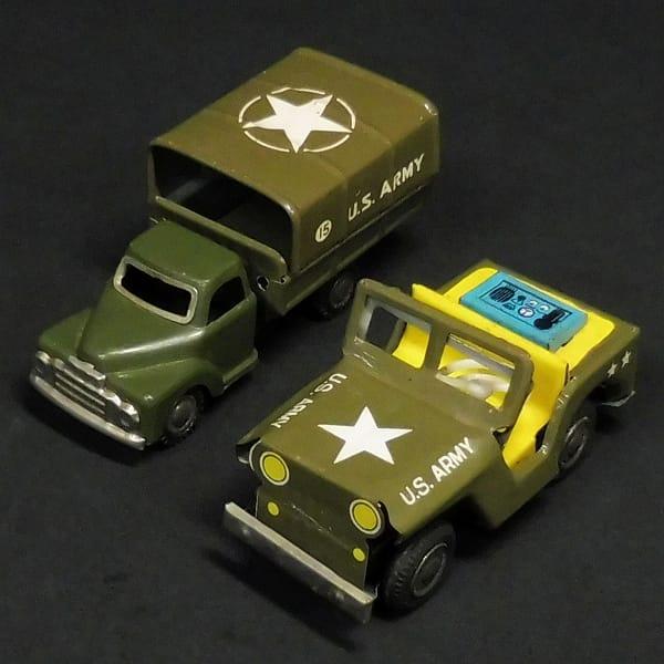 ブリキ U.S.ARMY ウィリス M38 ジープ トラック レトロ