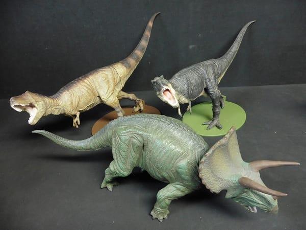 セガ 恐竜 ソフビ ティラノサウルス 2種 トリケラトプス