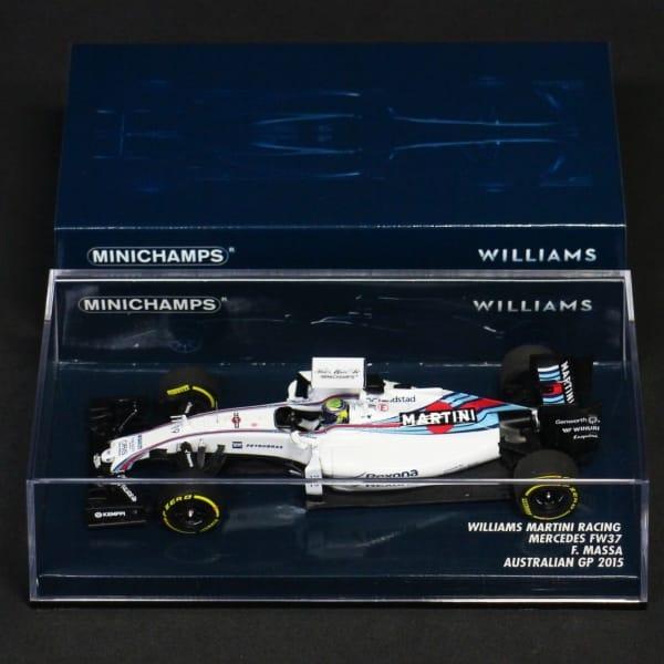 ミニチャンプス 1/43 ウィリアムズ FW37 マッサ 豪 2015