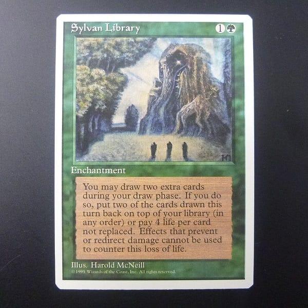 MTG 森の知恵 Sylvan Library 英語版 緑 レガシー_1