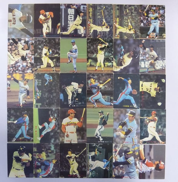 カルビー 当時 プロ野球カード 1982年 No.103~195 30枚