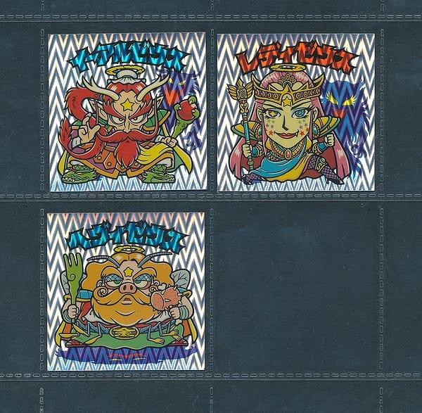 ビックリマン 超元祖32弾 ヘッド オメガ クリアロゴ 3種