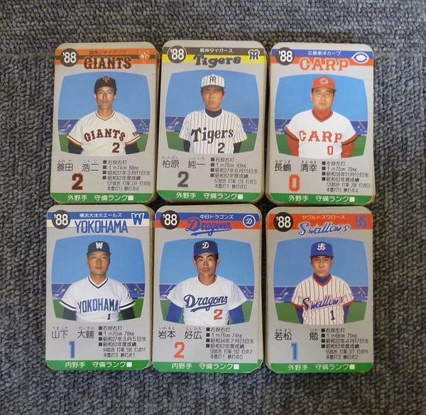 タカラ プロ野球 ゲーム カード 88年度 セ・リーグ6球団