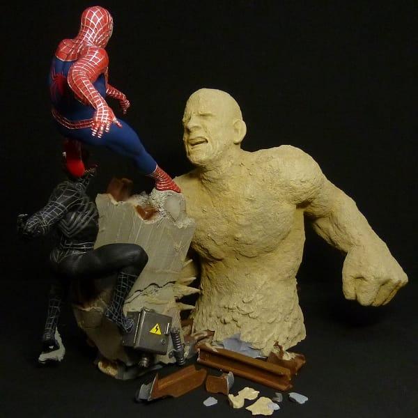 サイドショウ スパイダーマン ヴェノム サンドマン STATUE 3