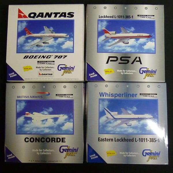 Gemini Jets 1/400 旅客機 まとめ コンコルド B707 他