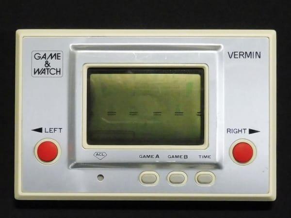 任天堂 ゲームウォッチ VERMIN バーミン / もぐらたたき