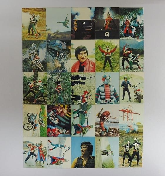 カルビー 当時物 旧 仮面ライダーV3 カード 241 25枚