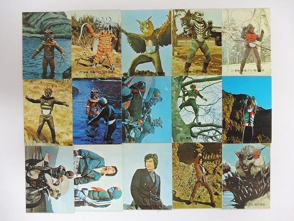 カルビー 旧 仮面ライダー カード 110 - 125 セミコンプ