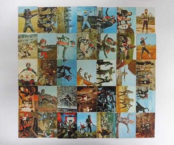 カルビー 旧 仮面ライダー カード 126 - 161 セミコンプ