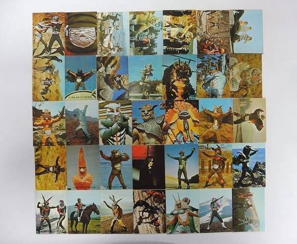 カルビー 旧 仮面ライダー カード 162 - 196 コンプ