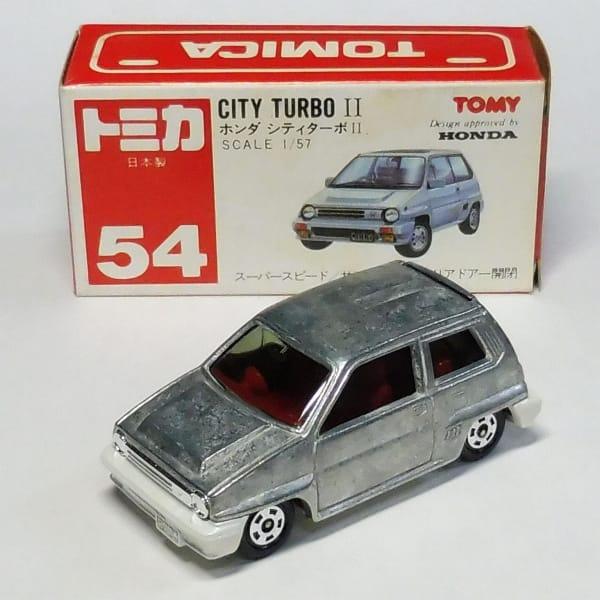 無塗装 トミカ 赤箱 54 シティ ターボII 日本製