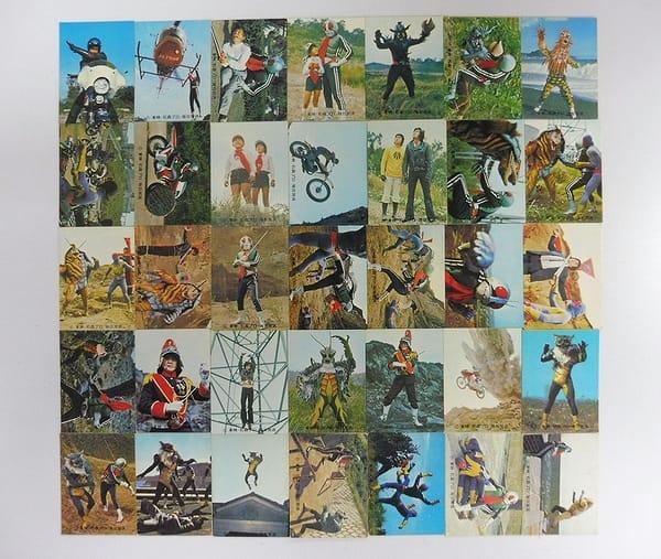 カルビー 旧 仮面ライダー カード 343 - 378 セミコンプ