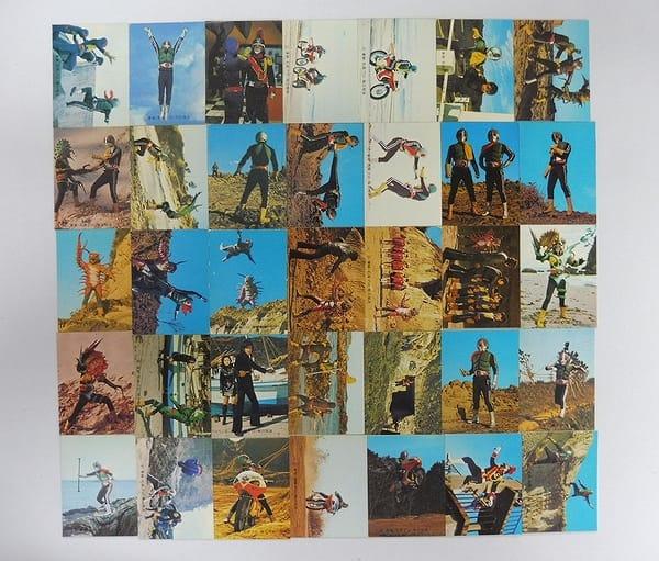 カルビー 旧 仮面ライダー カード 414 - 448 コンプ