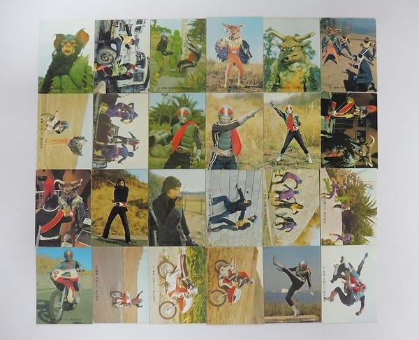 カルビー 旧 仮面ライダー カード 472 - 496 セミコンプ