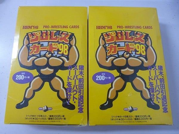 BBM プロレス カード 98 2ボックス / 猪木 前田