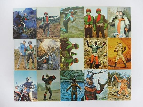 カルビー 旧 仮面ライダー カード 98 - 112 15枚 コンプ
