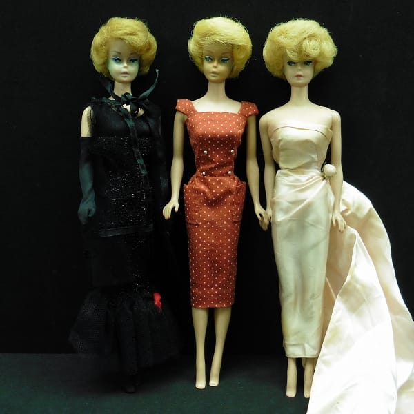 マテル 当時物 日本製 バービー人形 3体 / ビンテージ