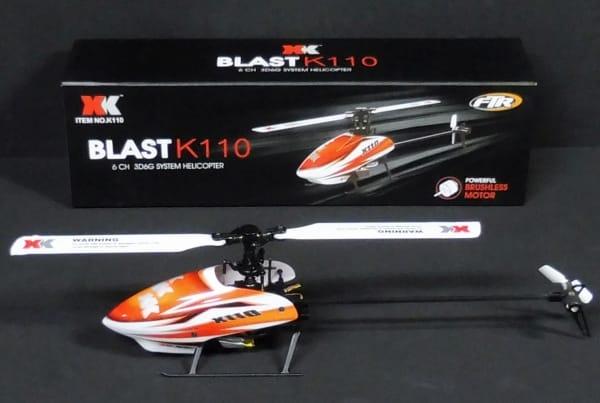 XK BLAST K110 6CH 3D6G システム ラジコンヘリコプター