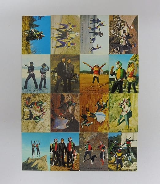 カルビー 旧 仮面ライダー カード 454 - 469 コンプ