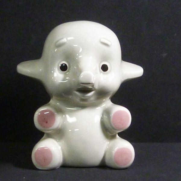 佐藤製薬 当時物 サトちゃん 陶器製貯金箱 昭和 レトロ
