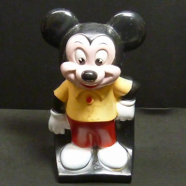 ビンテージ ソフビ ミッキーマウス 貯金箱 / ディズニー