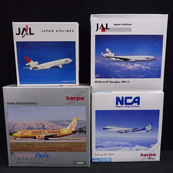 herpa 1/200 ボーイング 737-300 1/500 JAL MD-11 他