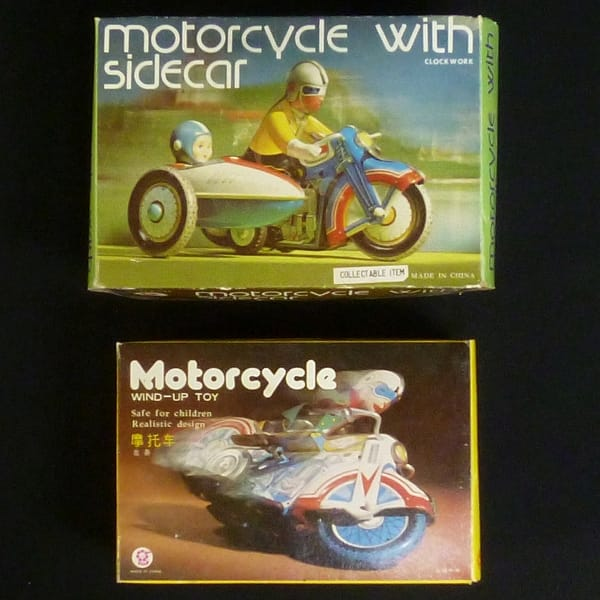 Motorcycle With Sidecar clockwork ゼンマイブリキ他