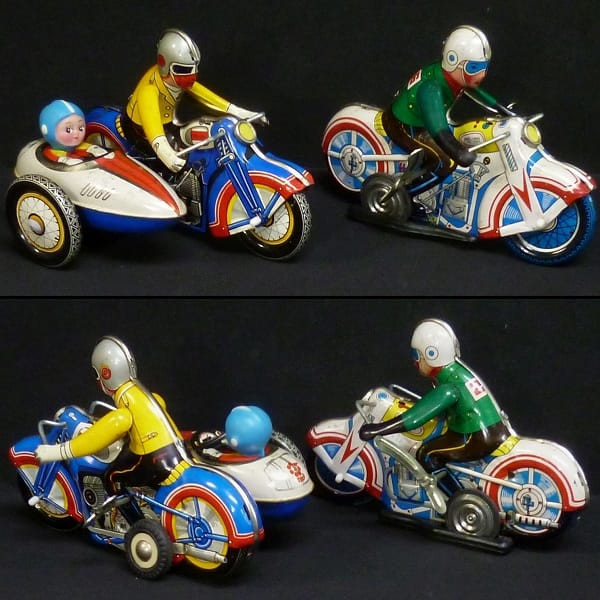 Motorcycle With Sidecar clockwork ゼンマイブリキ他_3