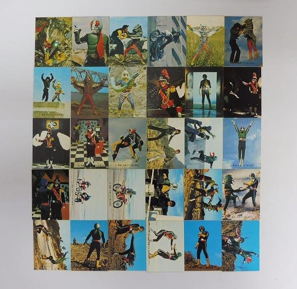 カルビー 旧 仮面ライダー カード 397 - 429 セミコンプ