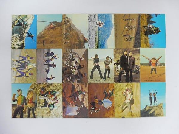 カルビー 旧 仮面ライダー カード 448 – 466 セミコンプ_1