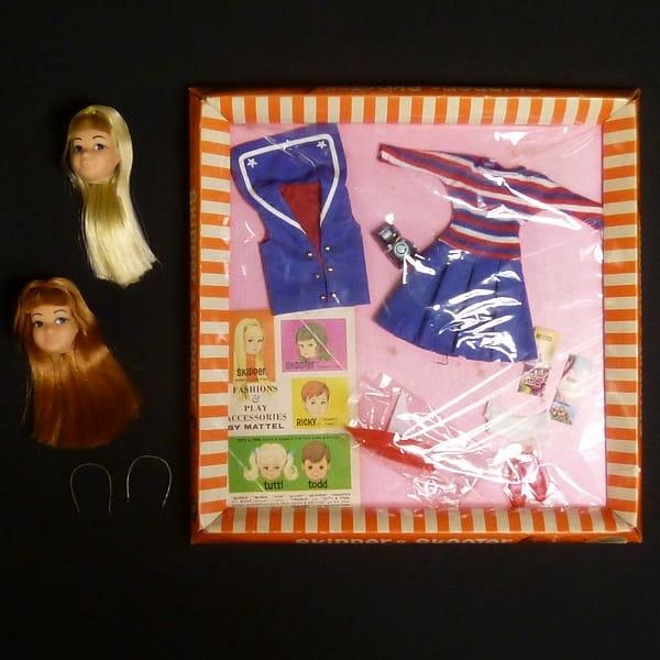 マテル スキッパー ヘッド2個 服 60年代製 / Barbieの妹