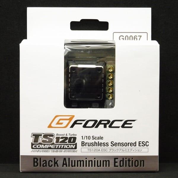 Gフォース ブラシレスアンプ TS120A ブラックアルミ/ RC