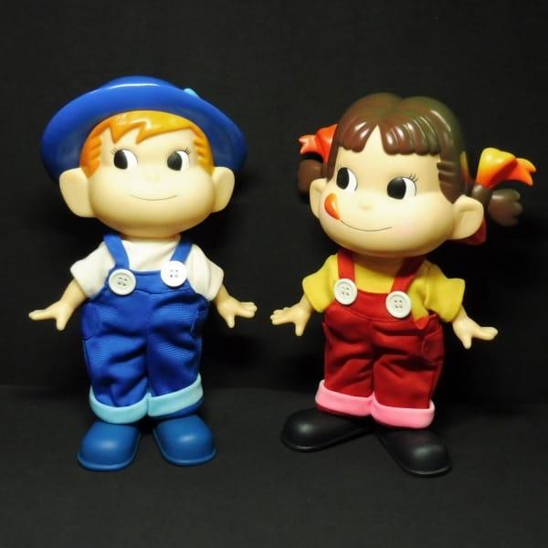不二家 ペコちゃん ポコちゃん 人形 ソフビ 可動 約25cm