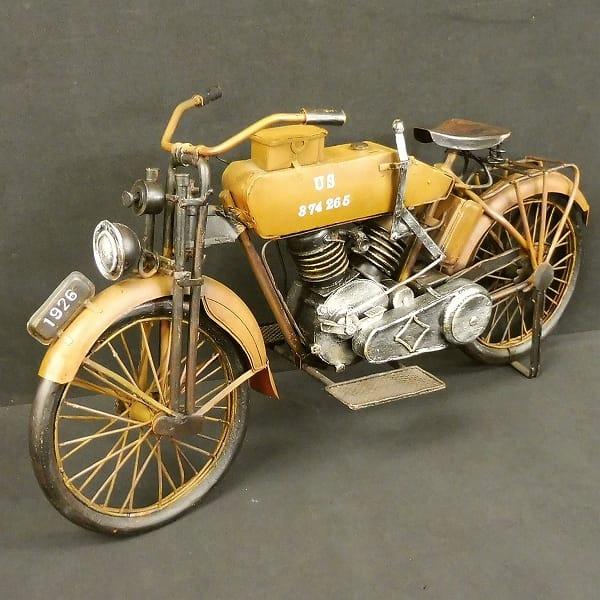 JyaLand ブリキ 1926年式 軍用 オートバイ ビンテージ_1
