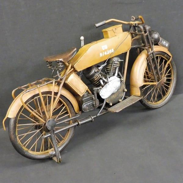 JyaLand ブリキ 1926年式 軍用 オートバイ ビンテージ_2