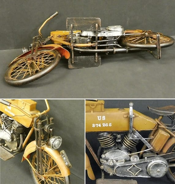 JyaLand ブリキ 1926年式 軍用 オートバイ ビンテージ_3