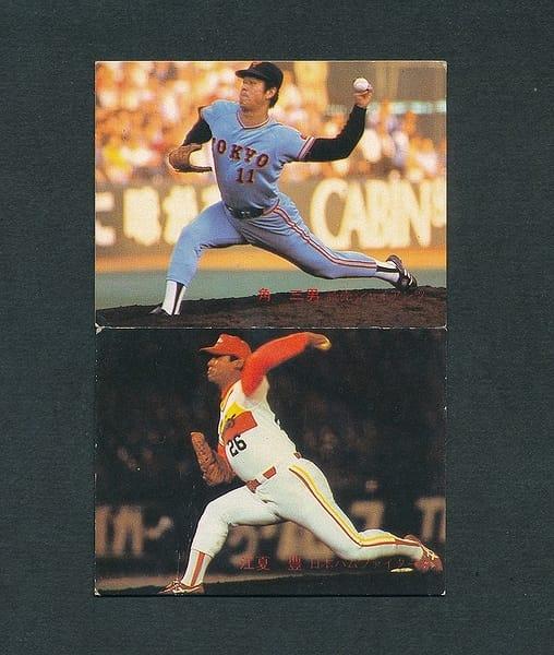 カルビー プロ野球カード 1982年 390 角 391 江夏_1