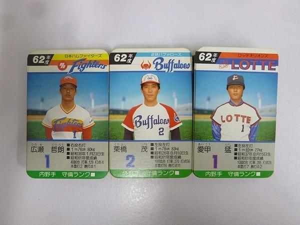 タカラ プロ野球 カード 62年度 日本ハム 近鉄 ロッテ_1