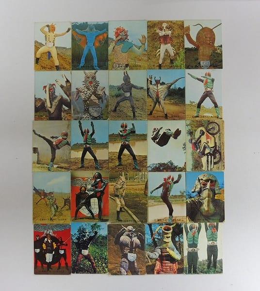 カルビー 当時物 旧 仮面ライダー カード 17 - 71 25枚