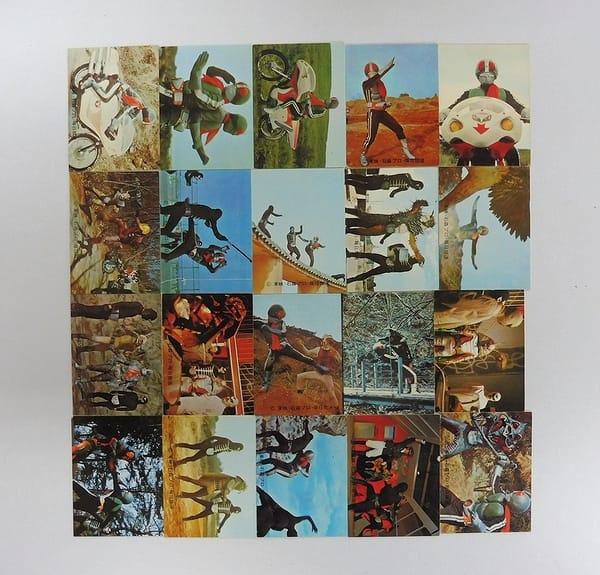 カルビー 旧 仮面ライダー カード 136 - 155 コンプ