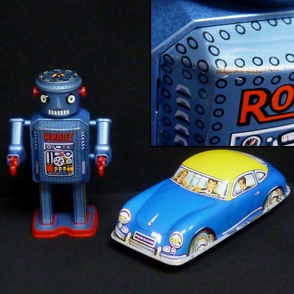 ブリキ玩具まとめ マスダヤ アンティークロボットR-35他_3