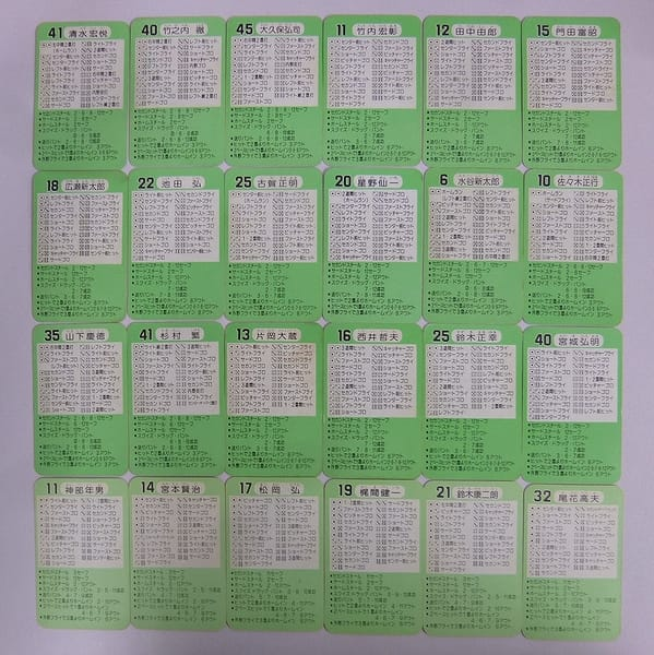 タカラ プロ野球 カード 56年 57年 大洋 中日 ヤクルト_2