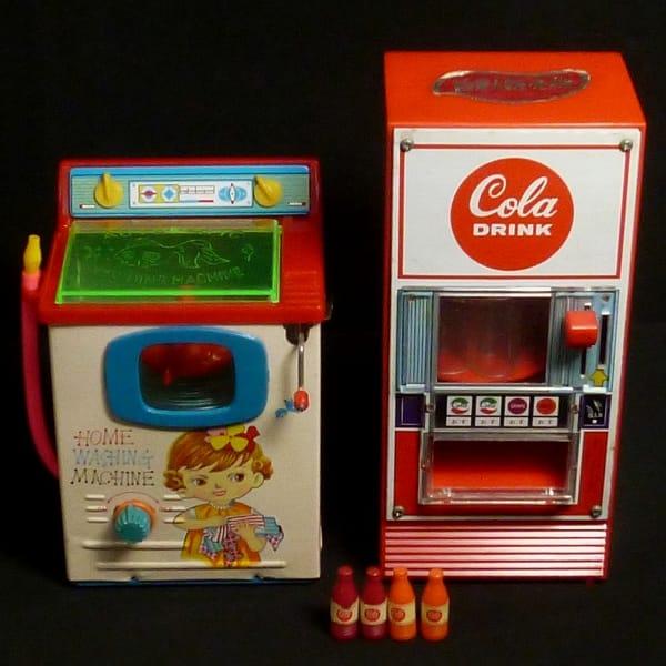ヨネザワ ブリキのおもちゃ 洗濯機 コーラ自動販売機