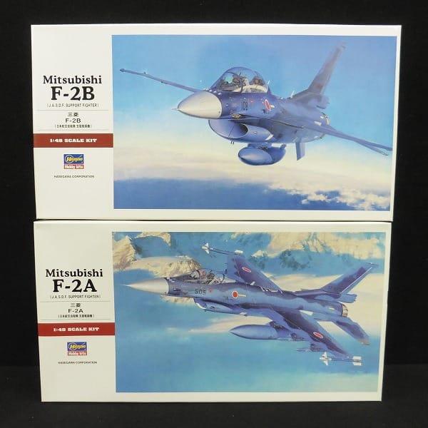 ハセガワ 1/48 日本航空自衛隊 三菱 F-2B F-2A