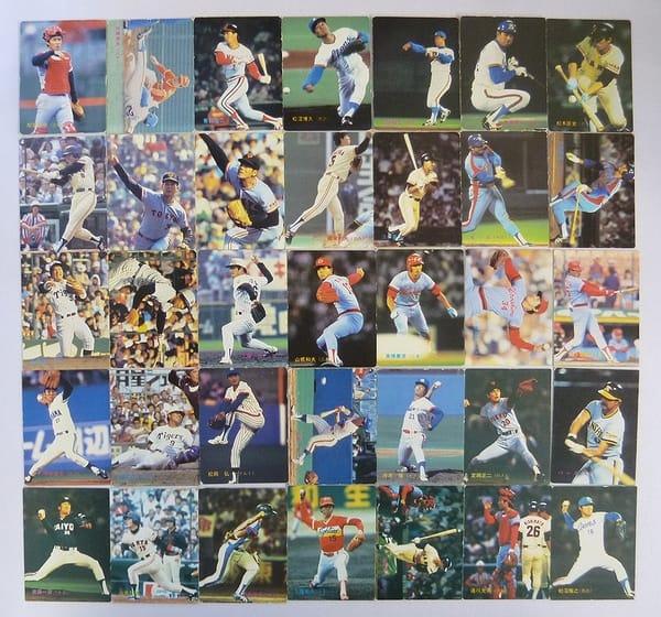 カルビー 当時 プロ野球カード 1983年 No.301~391 35枚
