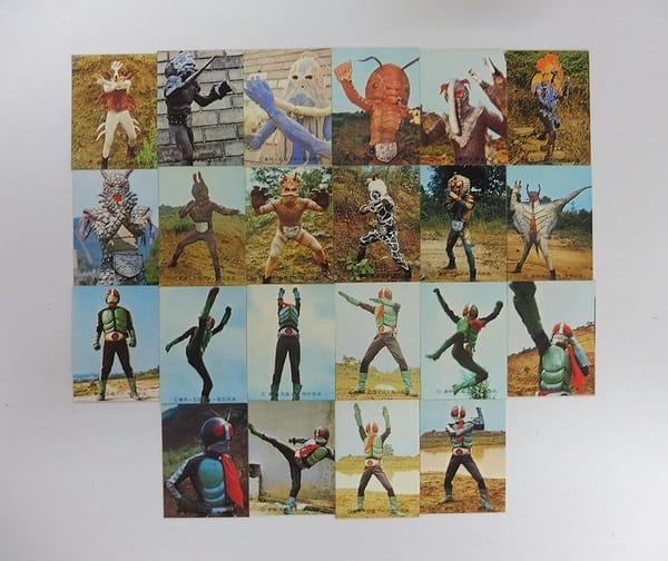 カルビー 旧 仮面ライダー カード 23 - 44 22枚 コンプ