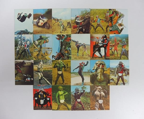 カルビー 旧 仮面ライダー カード 45 - 69 セミコンプ