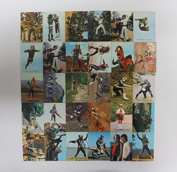 カルビー 当時物 旧 仮面ライダー カード 284 - 325